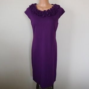 Taylor purple fitted dress